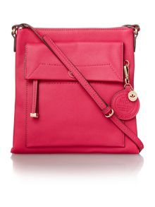 Nica Isabella pink medium cross body bag