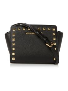 Michael Kors Selma stud black cross body bag