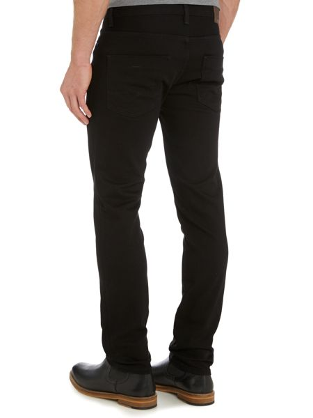 Hugo Boss Orange 63 black slim fit jean