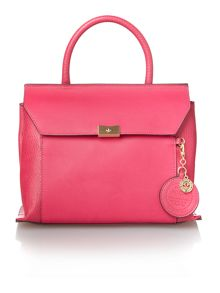 Nica Clio pink medium flap over tote bag