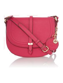 Daisy pink medium flap over cross body