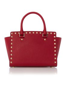 Michael Kors Selma stud red tote bag