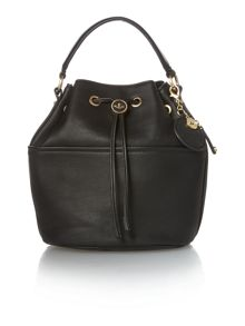 Nica Poppy black medium bucket bag