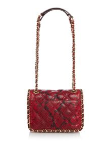 Carine red shoulder bag