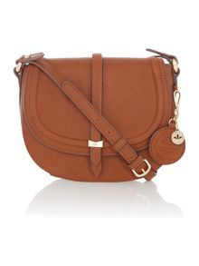 Nica Daisy tan medium flap over cross body