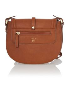 Daisy tan medium flap over cross body