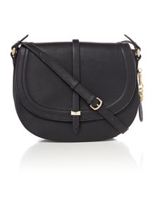 Nica Daisy black medium flap over cross body bag