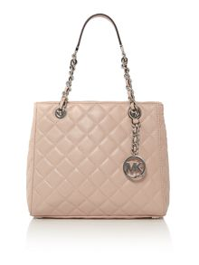 Michael Kors Susannah pink quilted tote bag