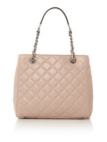 Susannah pink quilted tote bag