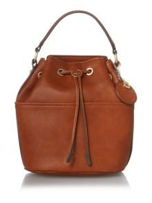 Nica Poppy tan medium bucket bag