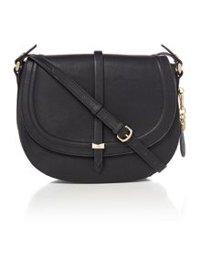 Nica Millie black medium flap over cross body bag