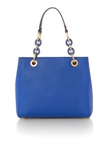Michael Kors Cynthia blue tote bag