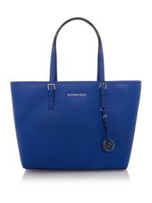Michael Kors Jetset travel blue tote bag