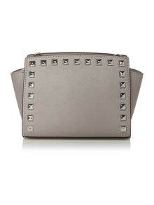 Selma stud grey mini crossbody bag