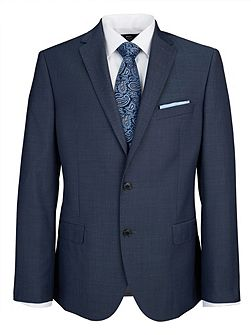 Slim Fit Denim Blue Single Breasted Suit