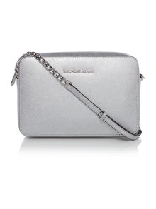 Jetset travel silver crossbody bag