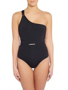 Biba Rhea one shoulder belted swimsuit