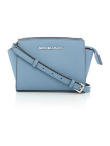 Selma blue mini crossbody bag