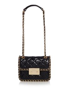Carine black shoulder bag