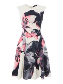 Ellen Tracy Soft fold printed dress