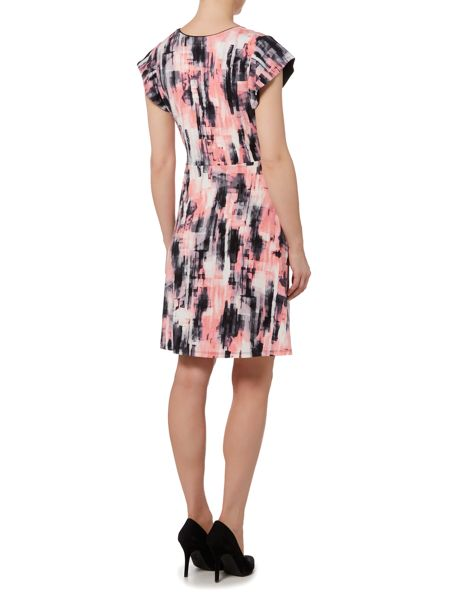 Ellen Tracy Flutter sleeve jersey dress