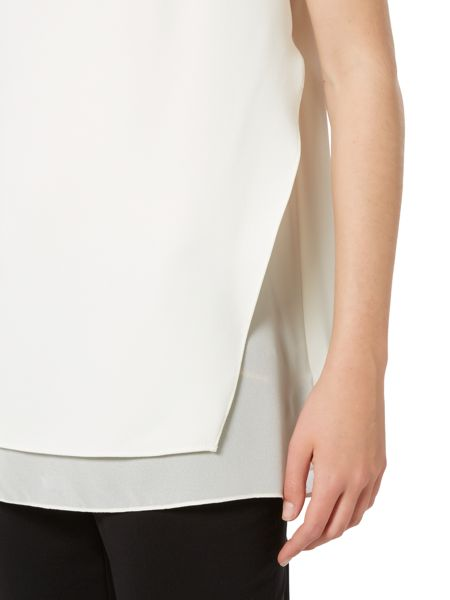Ellen Tracy Double layered tunic