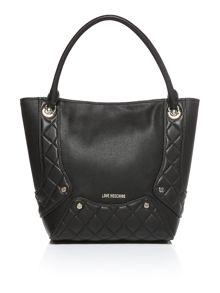 Love Moschino Quilted edge black tote bag