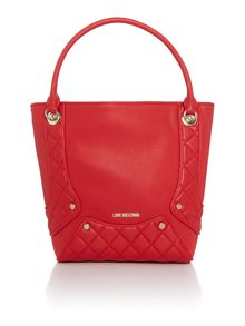 Love Moschino Quilted edge red tote bag