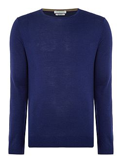 Silk Blend Long Sleeve Crew Neck Jumper