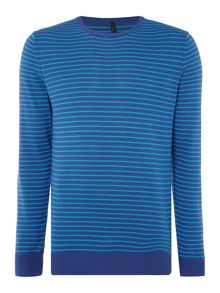 Benetton Thin Stripe Crew Neck Knitted Jumper