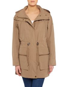Andrew Marc BRISTOL longline parka with drawstring waist