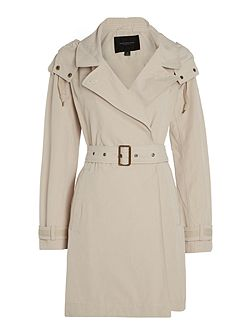 BROOKE trench coat with hood