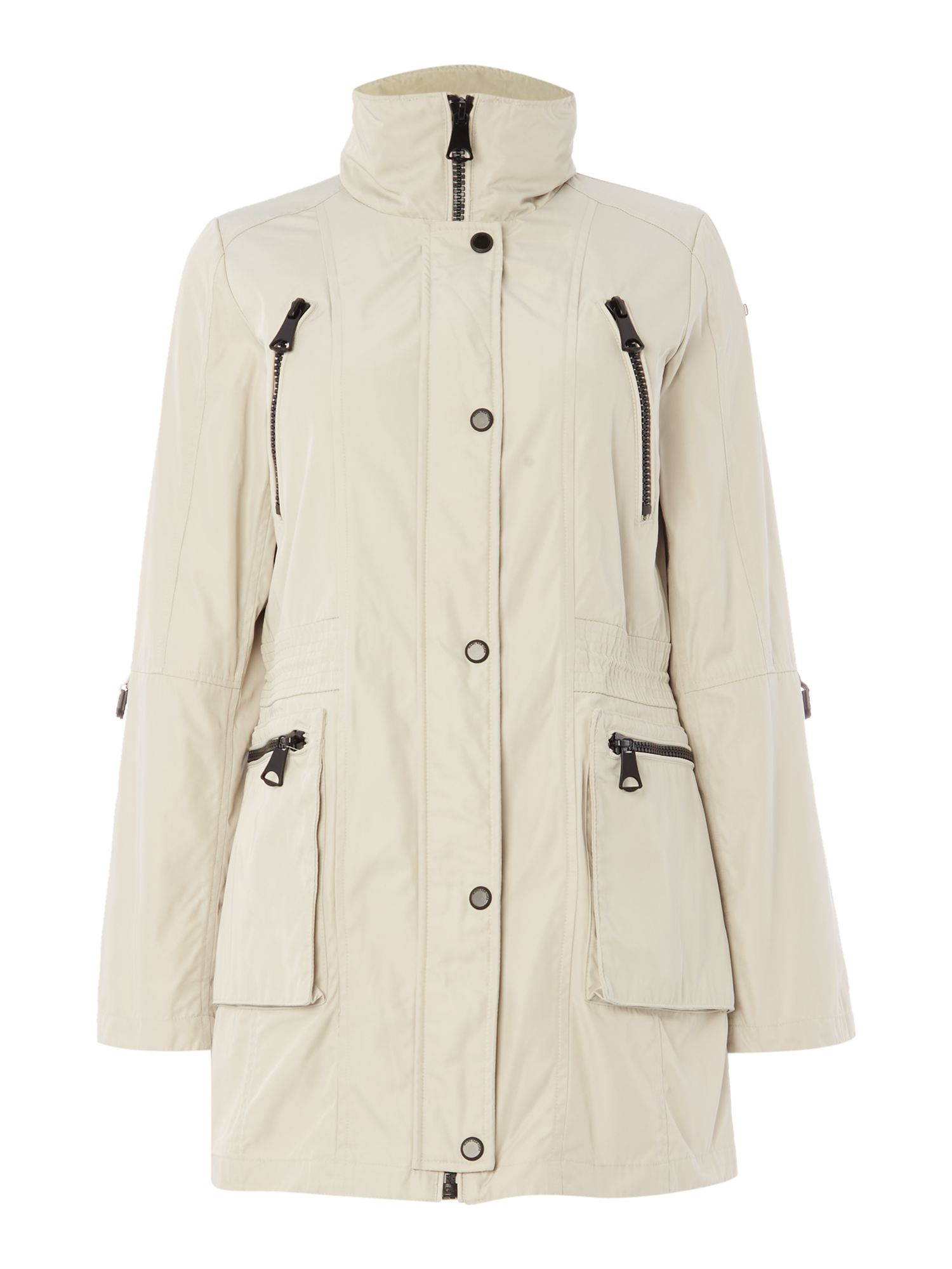 Andrew Marc VERONICA parka coat with hood, Grey