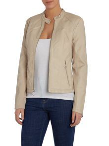 Andrew Marc PU jacket with front zip detail
