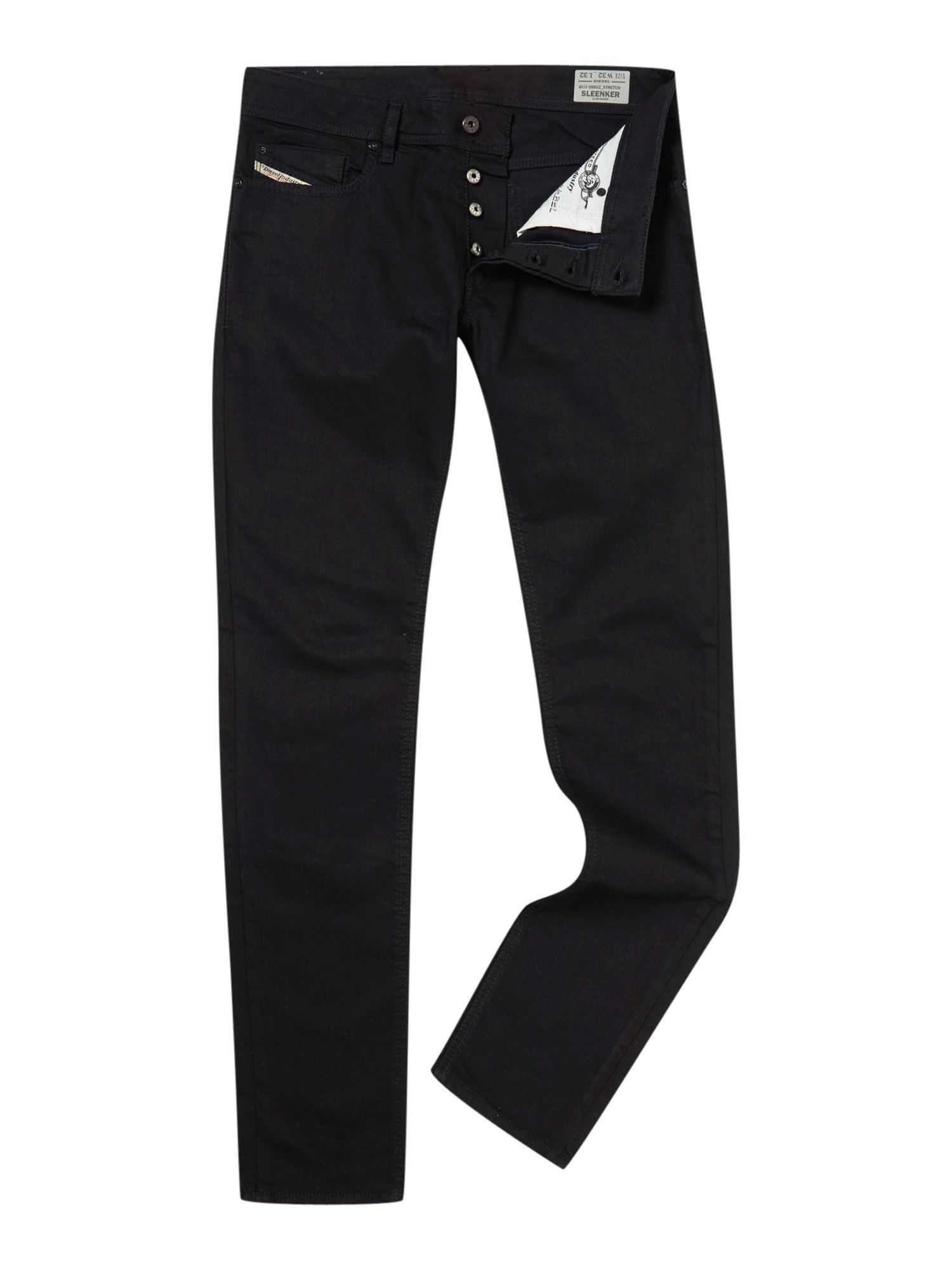 Mens Sleenker 886z Skinny Fit Stretch Jeans, Black