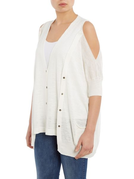 Crea Concept Cut out shoulder cardigan