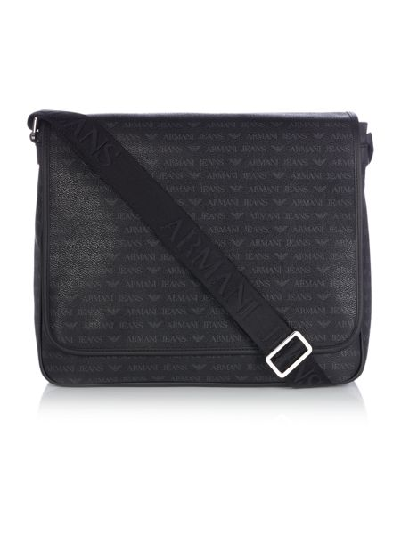 Armani Jeans All over logo print messenger bag