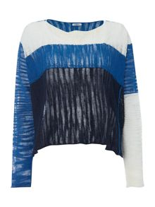 Crea Concept Panelled cropped jumper