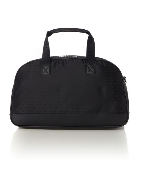 Armani Jeans All over logo print nylon holdall bag