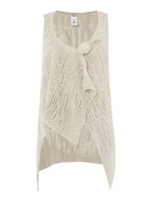 Crea Concept Knitted gilet with pin detail