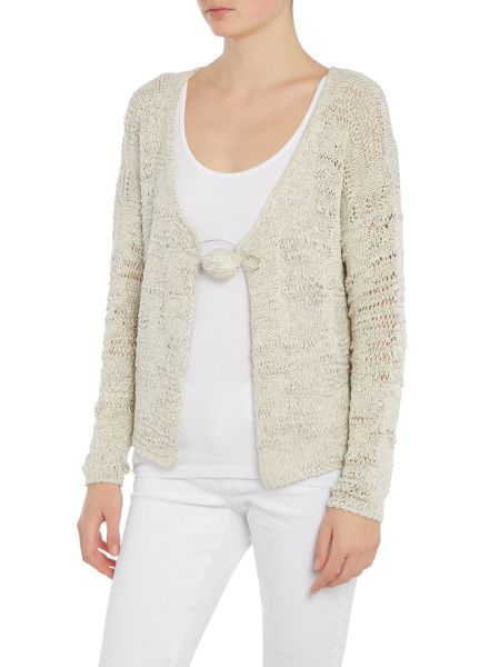 Crea Concept Knitted cardigan with pin detail