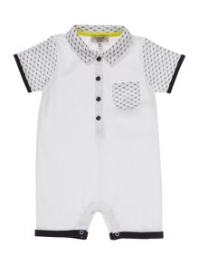 Armani Junior Boys Eagle Print All-In-One