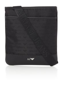 Armani Jeans Small all over logo print cross body bag
