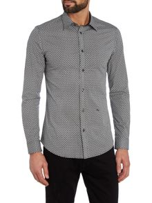 Diesel S-leppard regular fit geo print shirt