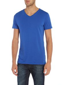 Benetton V-neck Short Sleeve T-shirt