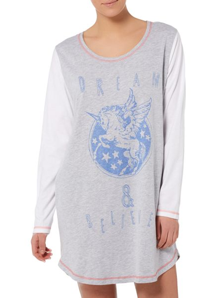 Therapy Unicorn long sleeved raglan sleep tee