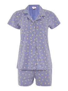 Therapy Banana jersey shirt and short set