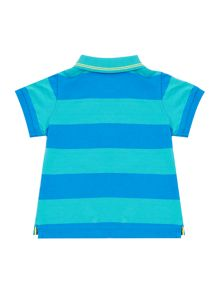 Armani Junior Boys Short Block Stripe Polo