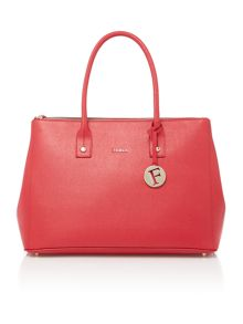 Linda red large tote bag