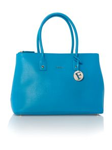 Furla Linda blue large tote bag